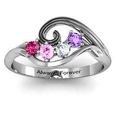 3-8 Stone Swirl Ring