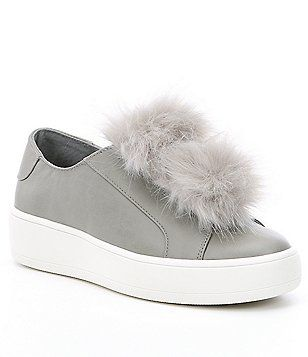 Steve Madden Breeze Faux Fur Pom Pom Sneakers