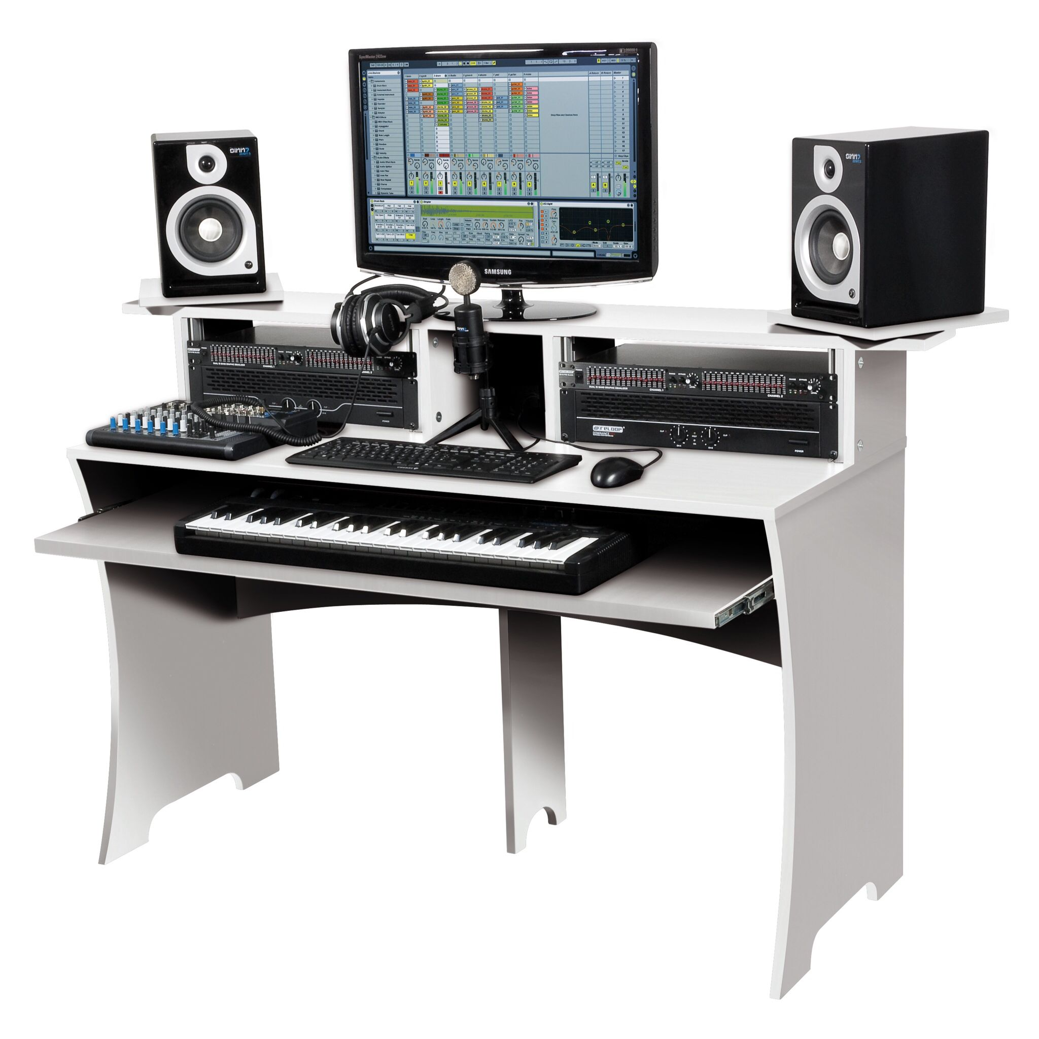 home studio desk design - home design ideas