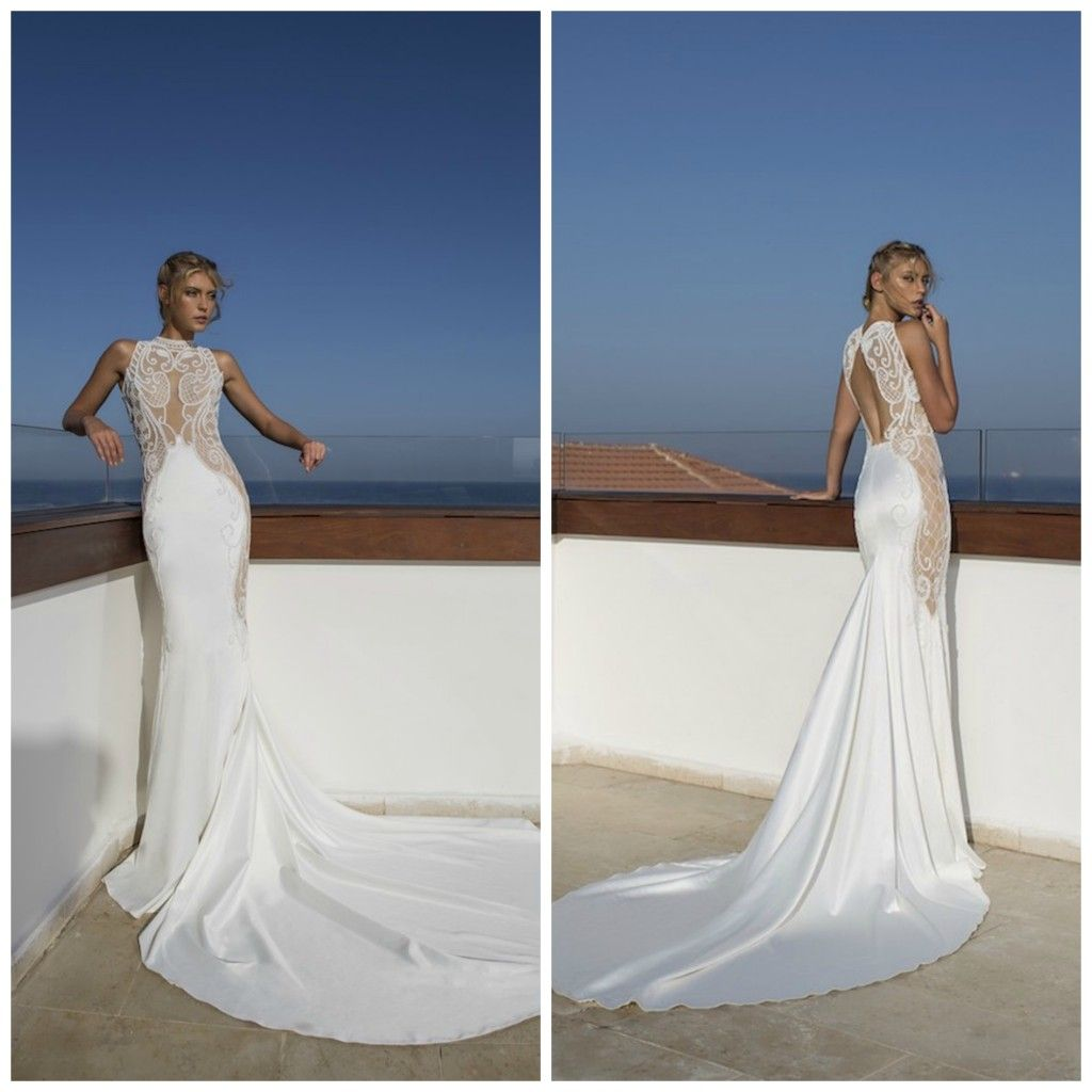 Riki Dalal Wedding Dress || Valencia Collection || Illusion Back || As seen On The Coordinated Bride Wedding Blog