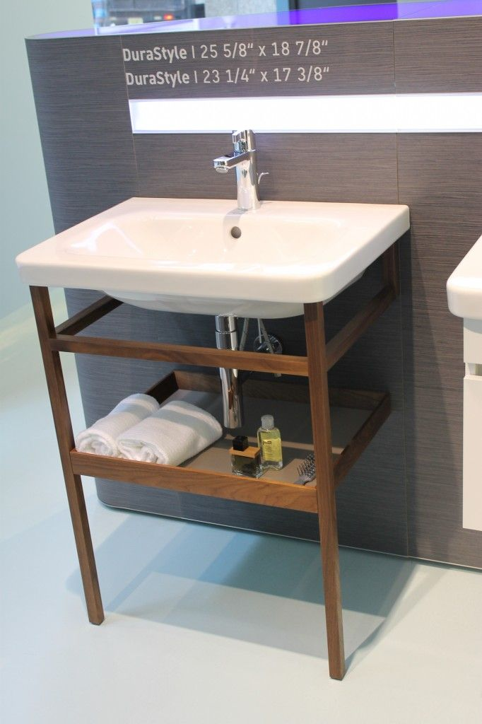 Cellar Half Bath Vanity Durastyle Console - Google Search $288 For Walnut  Console Legs Only (