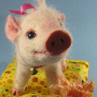 needlefelted piglet by Robin Joy Andreae