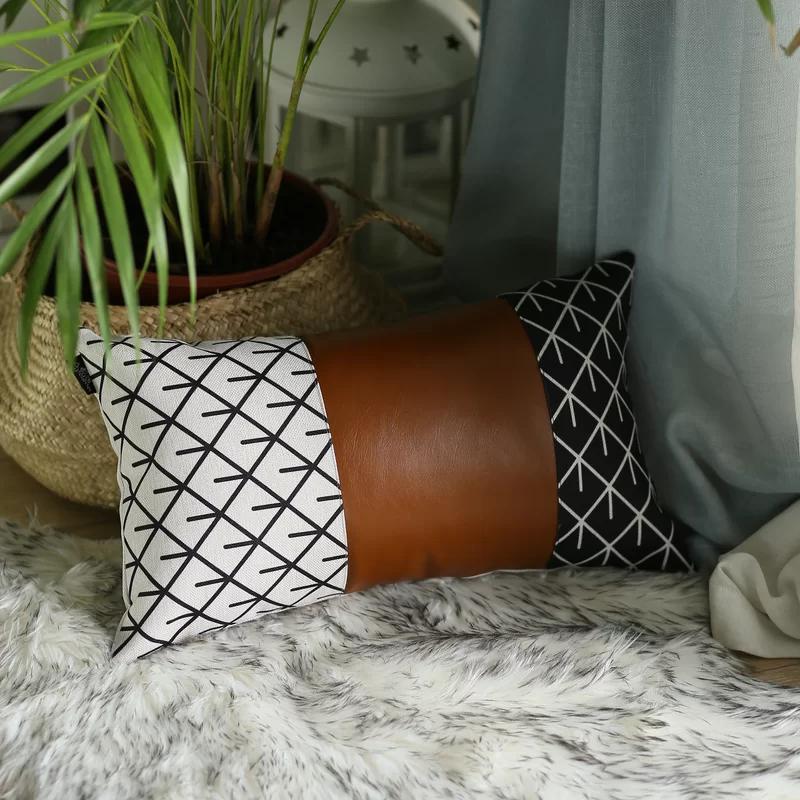Jaxson Decorative Geometric Lumbar Pillow Cover In 2020 Decorative Lumbar Pillows Lumbar Pillow Cover Pillows