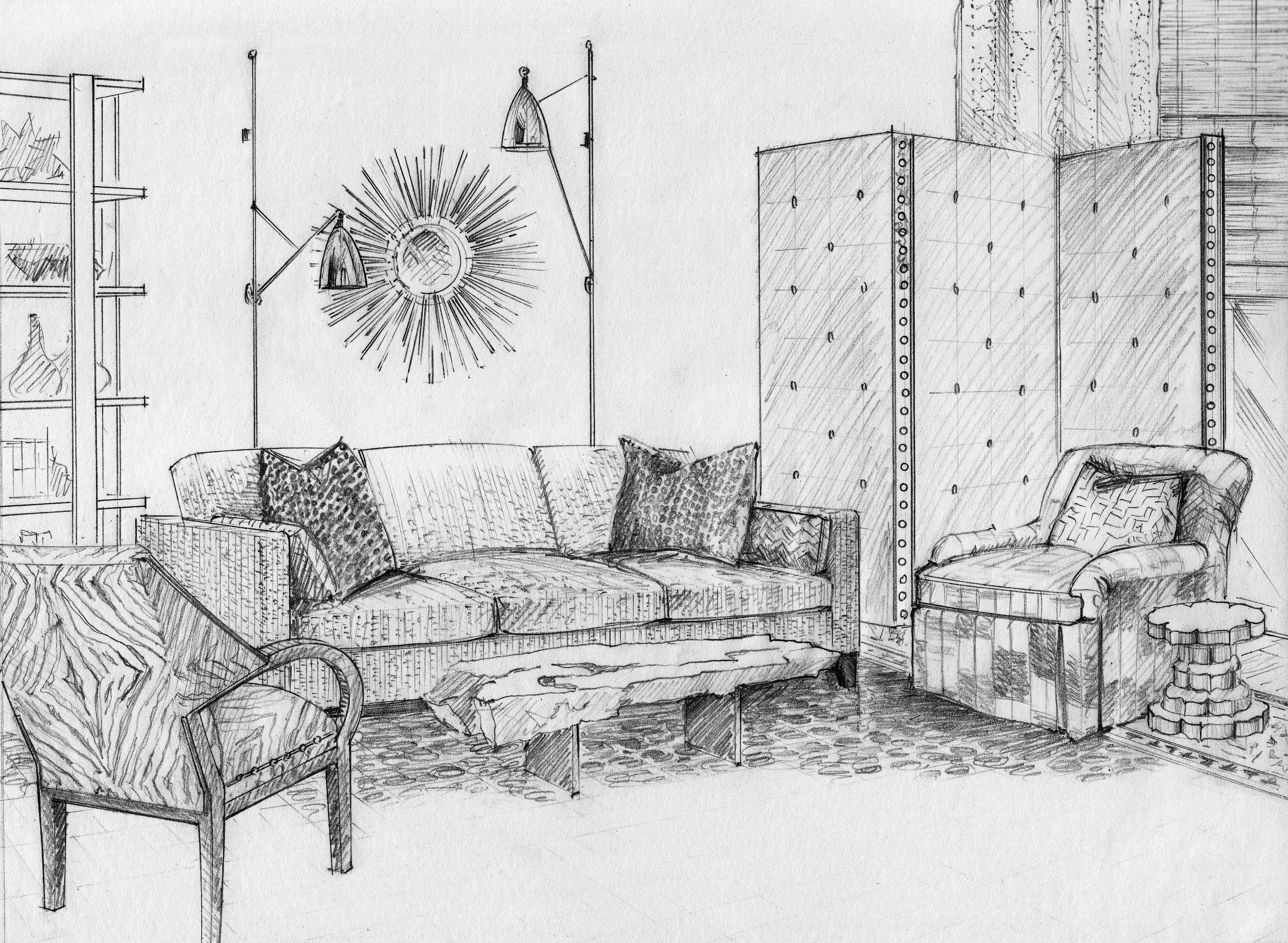 Sketch By Designants Llc Design By Lisa Melone Cloughen Interiors