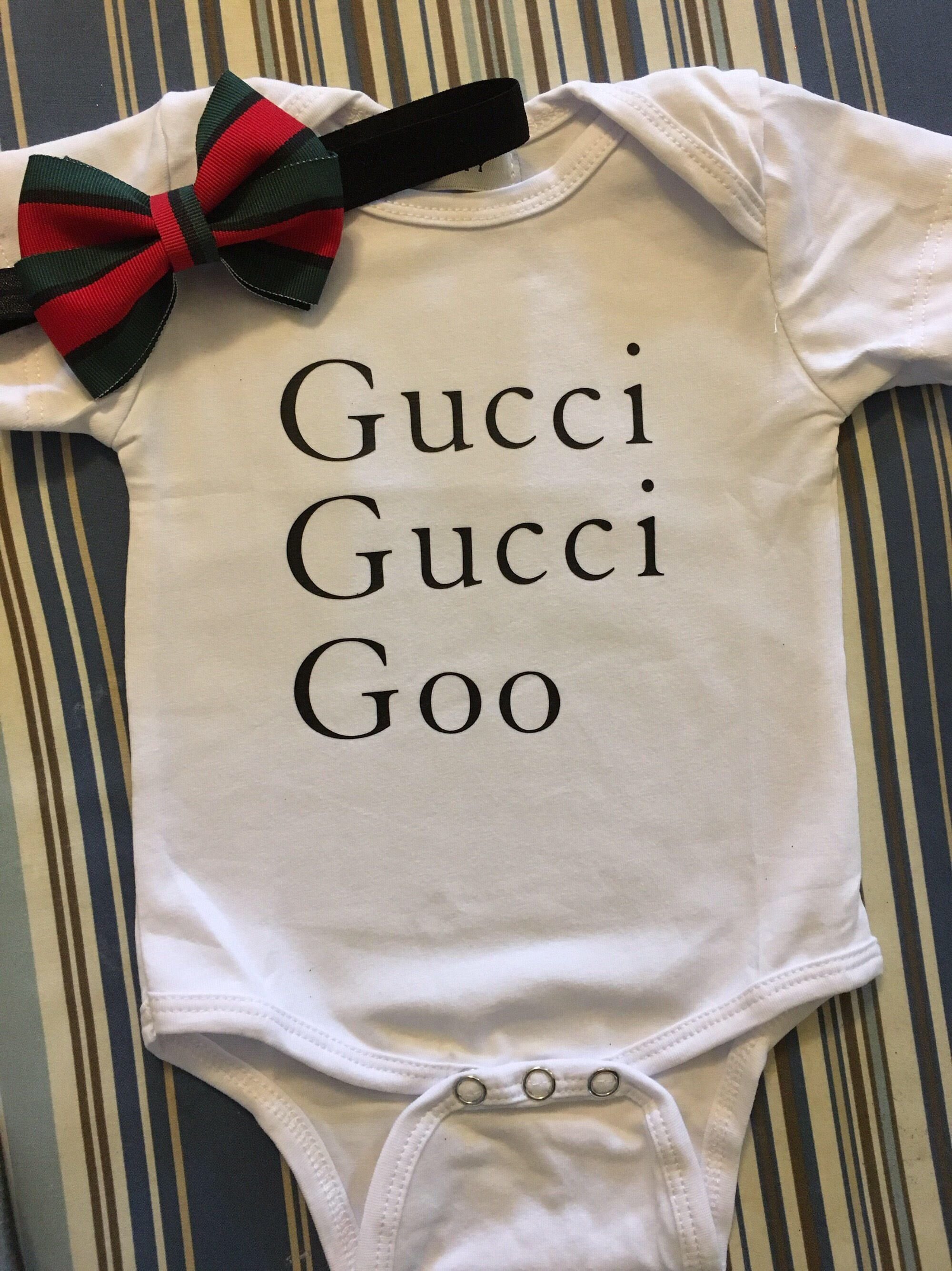 4b2c2105eca2 Gucci gucci goo headband  amp  onesie by SashaySociety on Etsy https   www