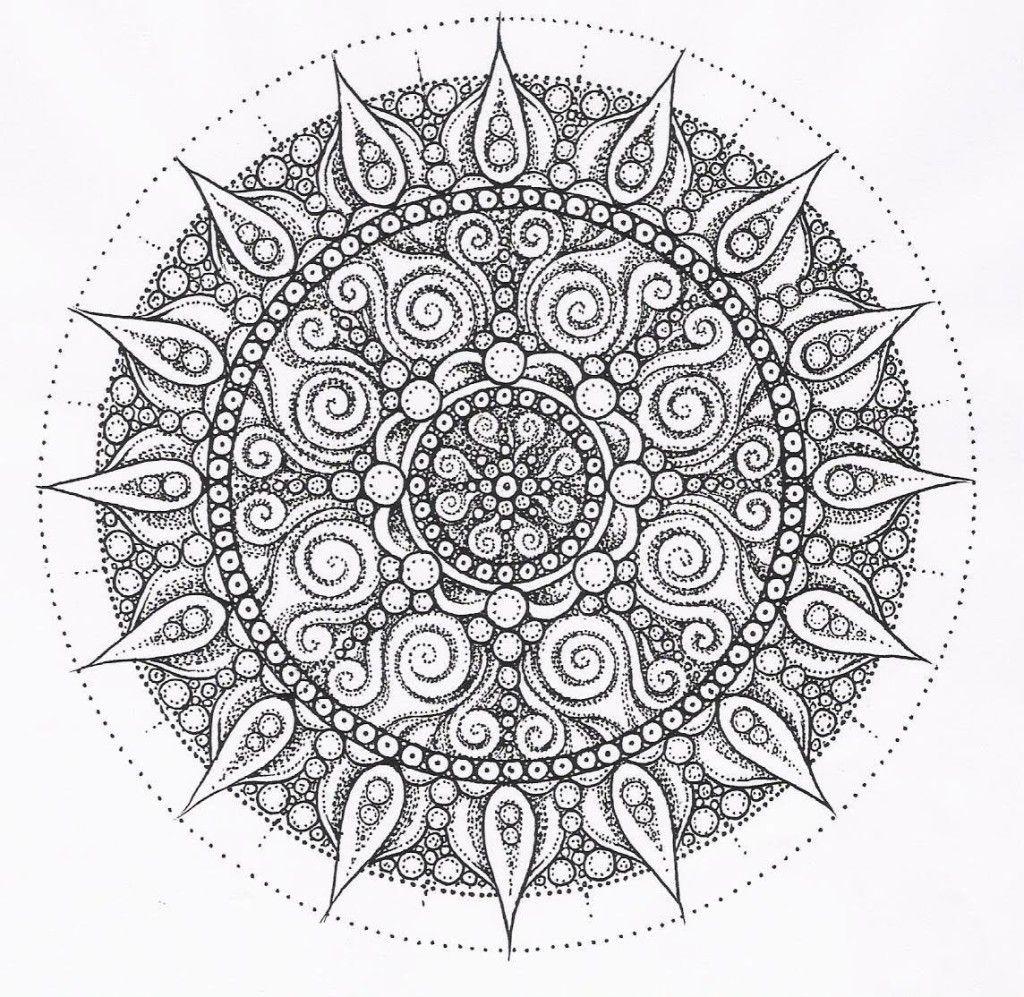 Desenho de Mandala para Colorir e Imprimir | Drawings and ornaments ...