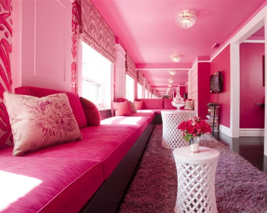 Since Pink Is My All Time Favorite Color, I Really Appreciate These Living  Rooms. This Living Room Comes Closest To My Own Personal Decor Preference,  ... Part 18