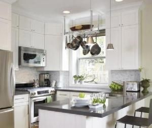 Grey Countertops Transitional Kitchen House Home Kitchen Design Small Clean Kitchen Design Kitchen Layout