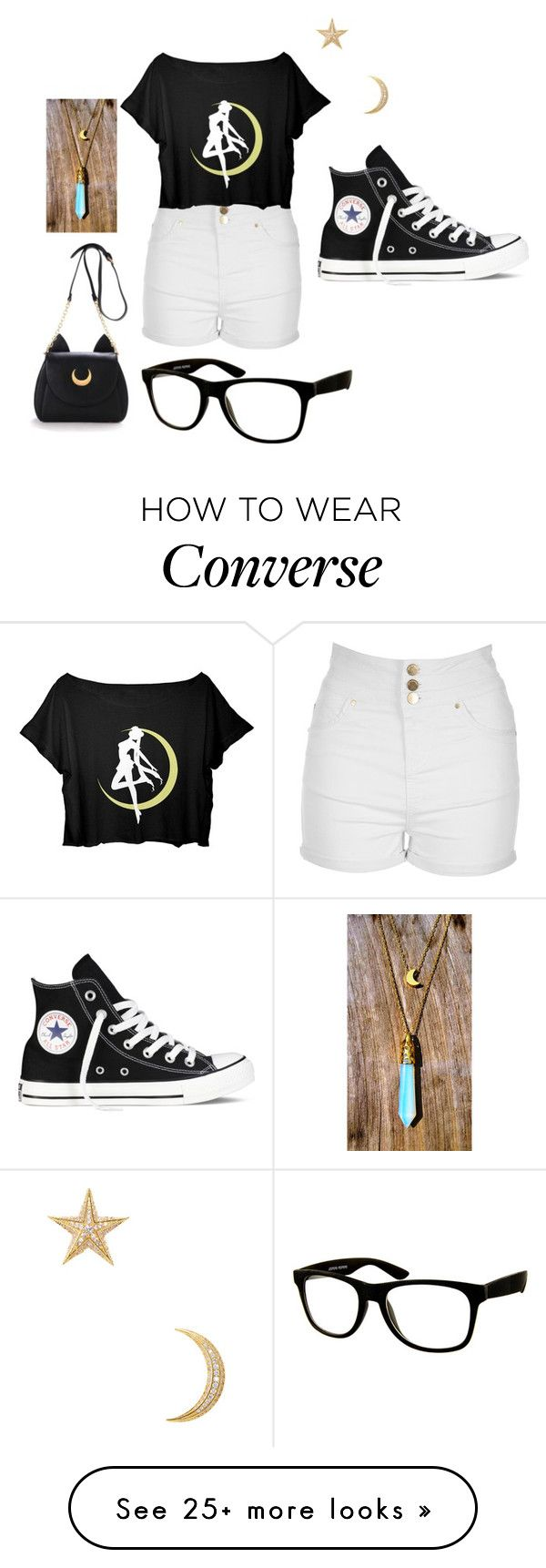 """#197"" by jel1ica on Polyvore featuring Jane Norman, Converse, Noir Jewelry and Jeepers Peepers"