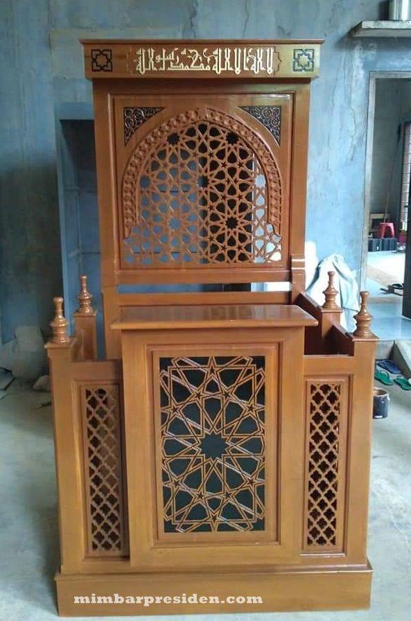 Spesifikasi Mimbar Masjid Minimalis Bahan Kayu Jati