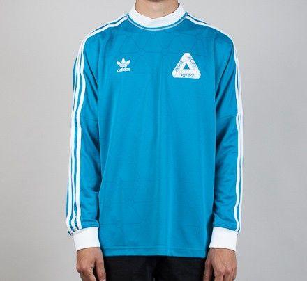 39d815b29 Adidas x Palace Team Long Sleeve T-Shirt (Bold Aqua) | Your ...
