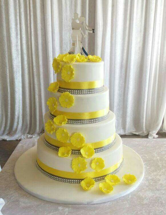 Yellow Wedding Cake, Cakes by Lizzie, Cape Town, South Africa ...