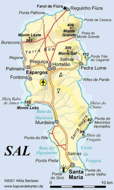 ilha do sal mapa Mapa da Ilha | Cabo Verde nha cretcheu | Cabo ilha do sal mapa