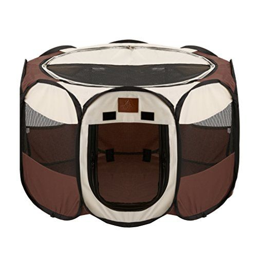 Dog Playpens - Parkland Pet Portable Foldable Playpen Exercise Kennel Dogs Cats Indooroutdoor Removable Mesh Shade Cover * Click image to review more details. (This is an Amazon affiliate link)