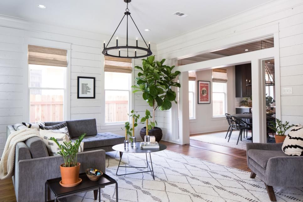 Fixer Upper Midcentury Asian Ranch Goes French Country Hgtv S Fixer Upper With Chip And Joanna Gain Fixer Upper Living Room Fixer Upper Family Room Design