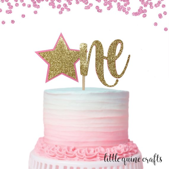 12 Silver One Cupcake Toppers Glitter Premier Anniversaire Numéro 1 1st Gâteau