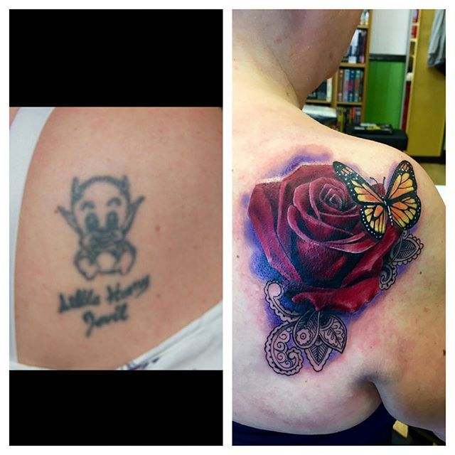 Another Cover Up From Today, Thanks Tattoo Fixers