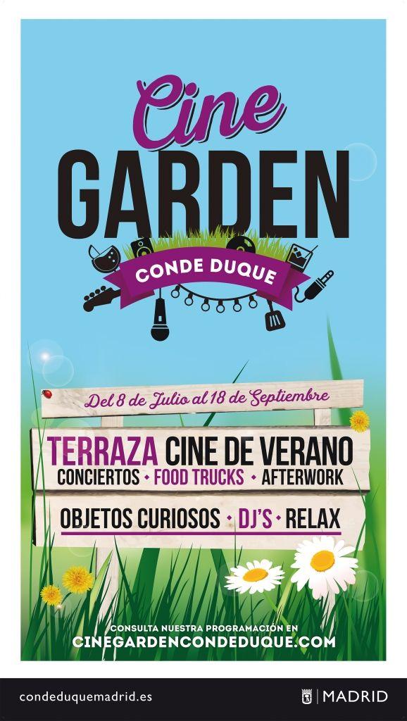 Terraza Cine Garden Conde Duque - Conde Duque Madrid
