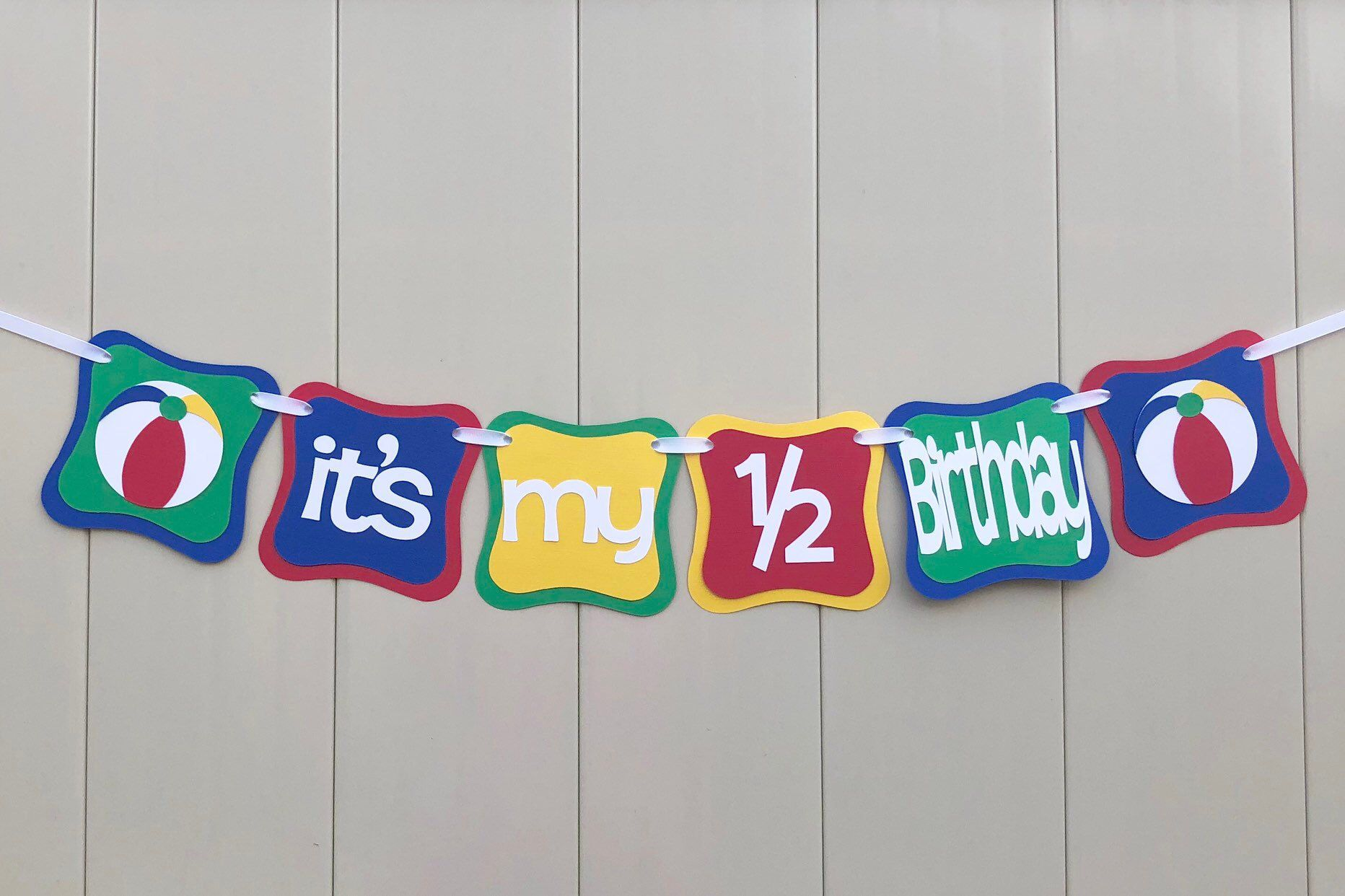 Excited To Share This Item From My Etsy Shop Beach Ball Its 1 2 Birthday Banner Half Boy Decorations Photo Prop