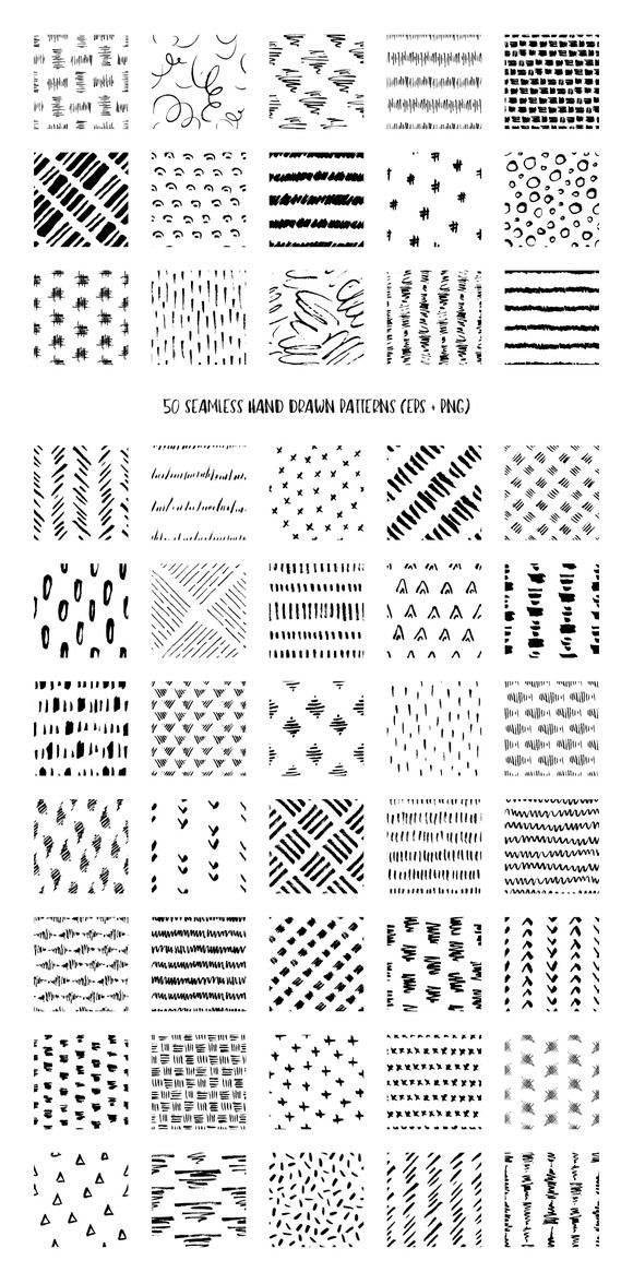 50 Hand Drawn Pen Ink Patterns How To Draw Hands Pattern