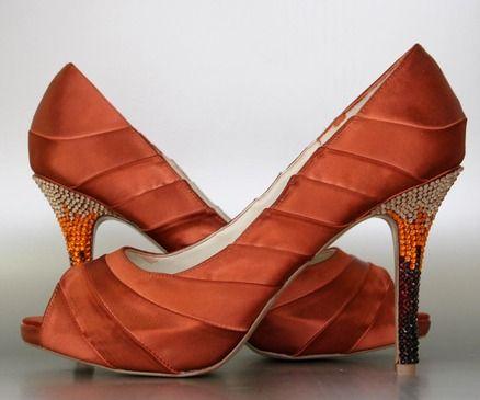 Burnt Orange wedding shoes - $285