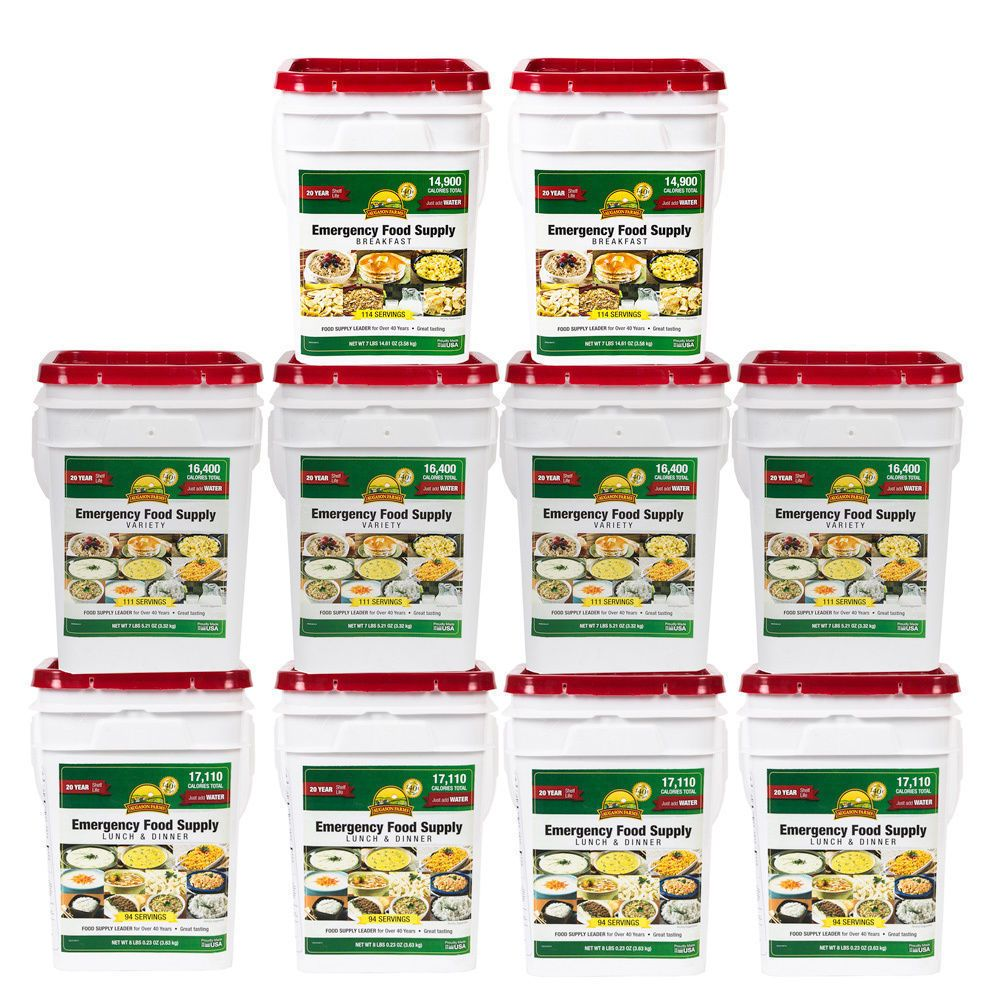 Augason farms 1 month 4 person emergency food supply kit