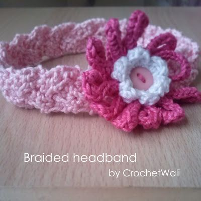 Braided Headband And Flower Free Pattern Crochet Things I Create