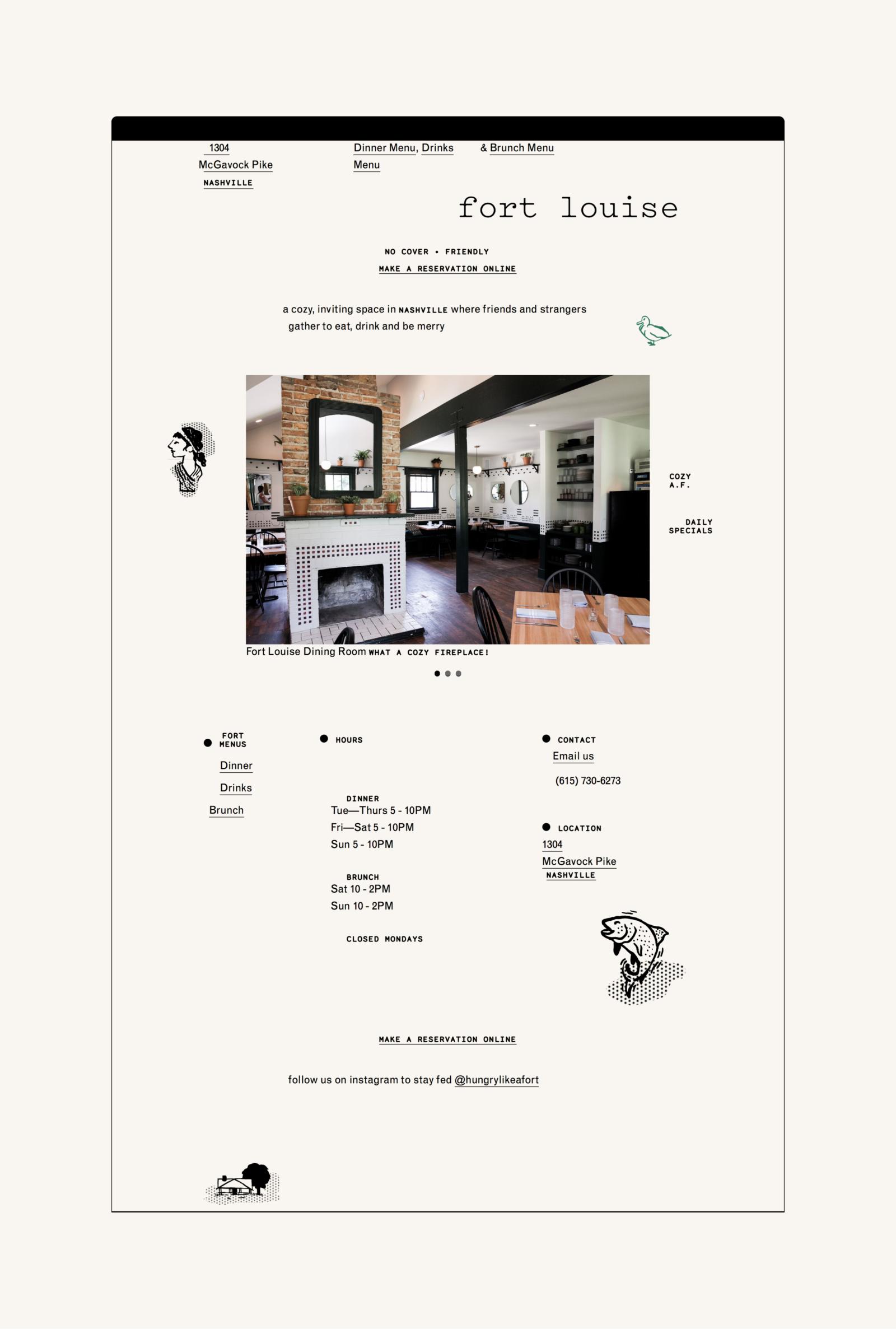 Fuzzco Fort Louise Restaurant Branding Branding Powerpoint Design