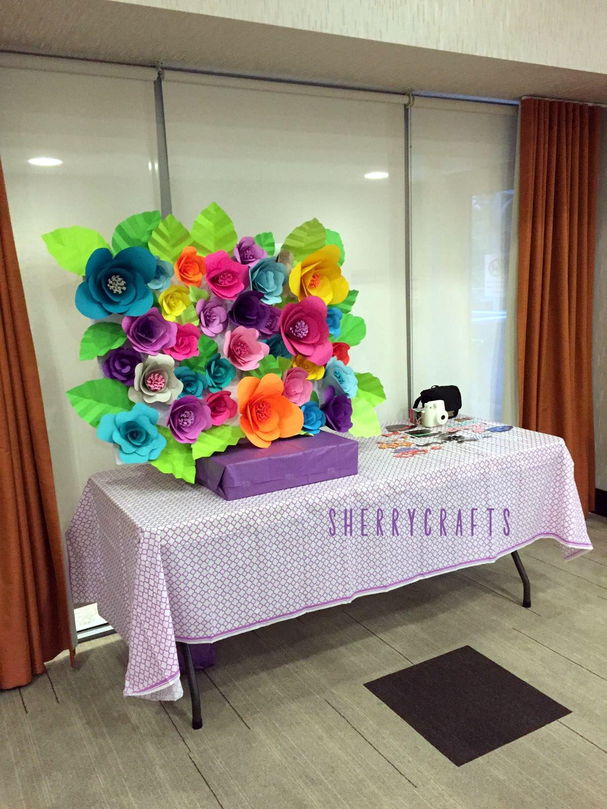 Diy paper flower backdrop paper flowers flower backdrop