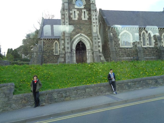 Church on the way to Caernarfon.