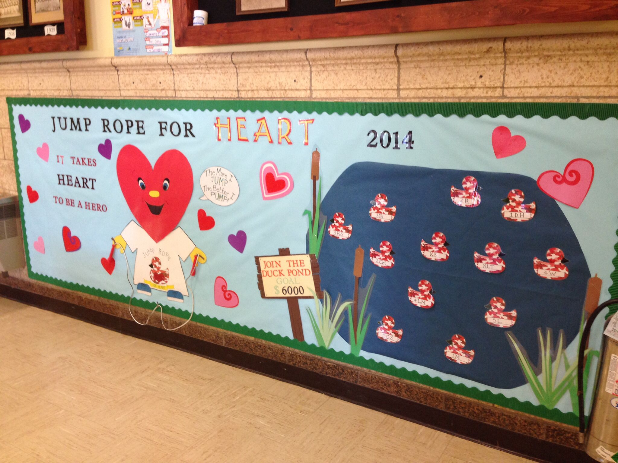 Jump Rope For Heart Bulletin Board February 2014 Duck