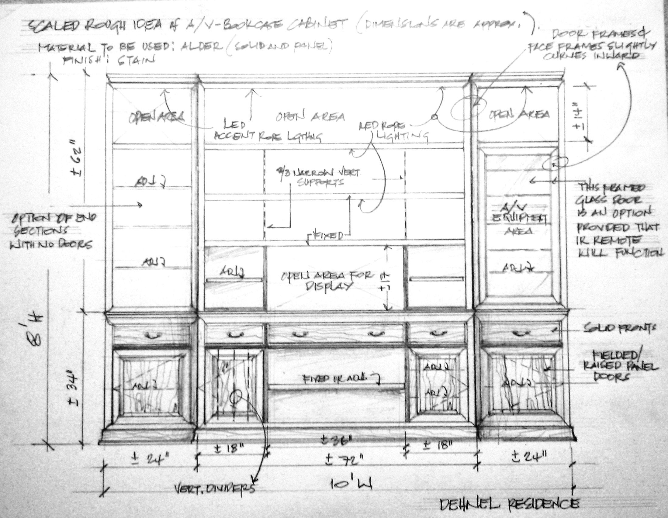 Pin On Misc Drawings Elevations For Custom Cabinets Furniture