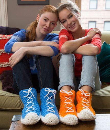 Hi Top Crochet Sneakers Free Pattern