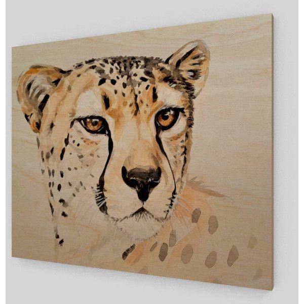 Cheetah Print Wood Artwork Wooden Cheetah Wall Decor Cheetah Decor ...