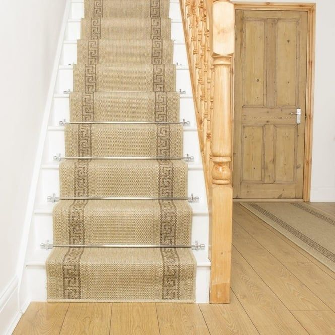 Best Greek Fret Beige Stair Runner Stair Runner Flat Weave 400 x 300