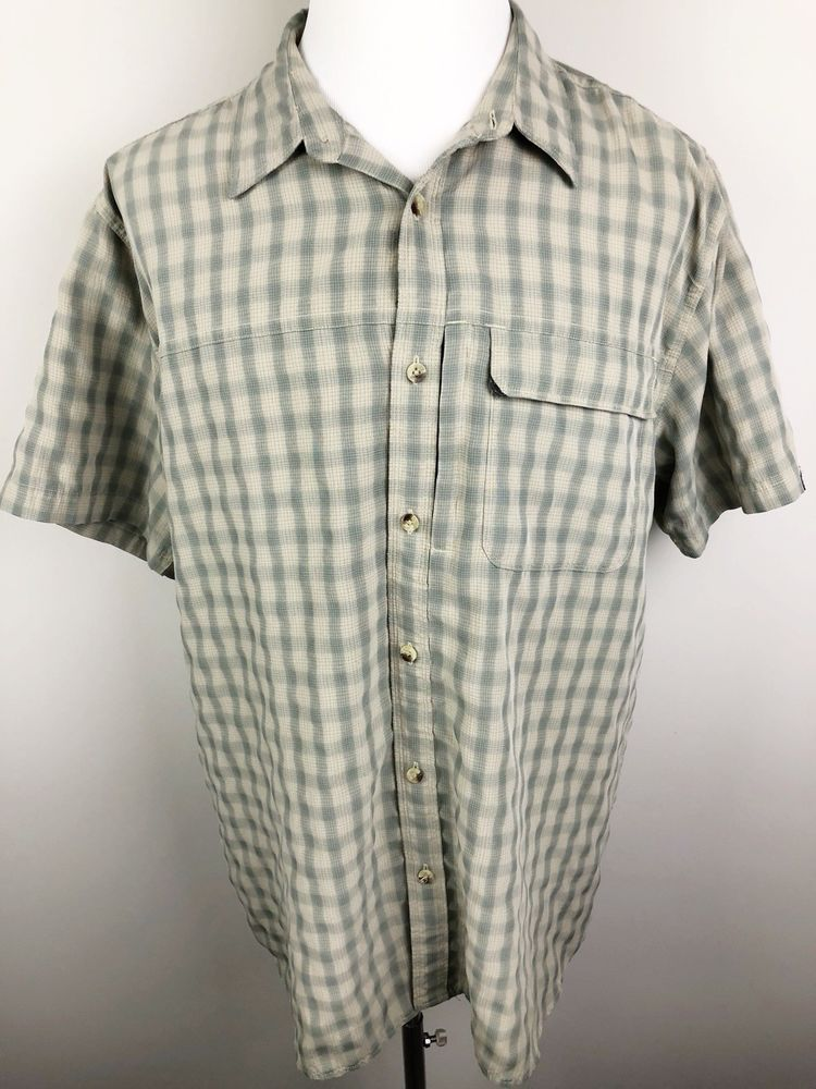 24ff2ce73 THE NORTH FACE Mens Size XXL Button Up Shirt S/S OUTDOORS Zip Pocket ...