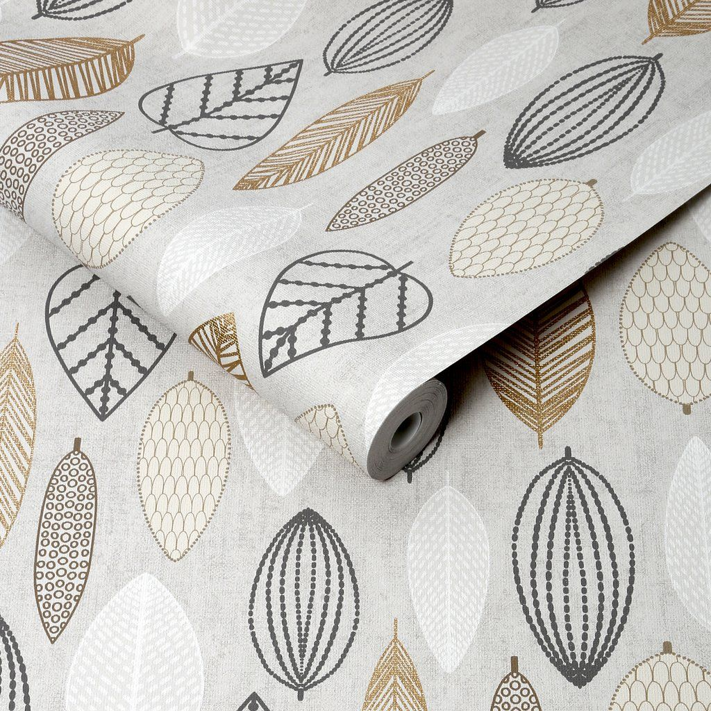 G B Superfresco Easy Wallpaper Scandi Leaf Copper 103170 Scandinavian Wallpaper Copper Wallpaper Leaf Wallpaper