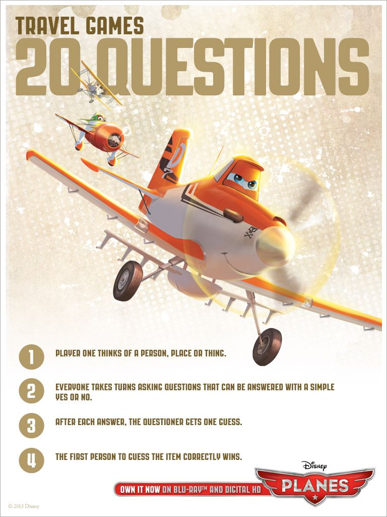 #DisneyPlanes 20 questions Travel Game!
