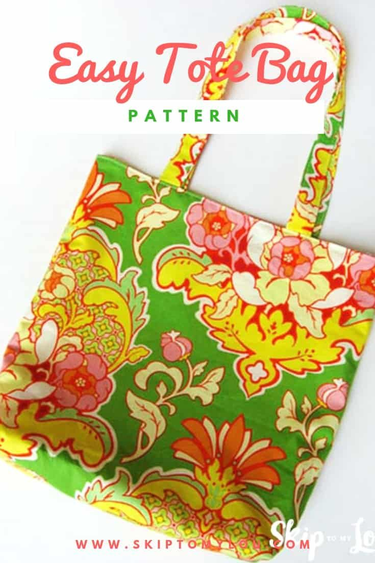 Here is a simple tote bag pattern that will show how to make a super cute tote The best part it is reversible