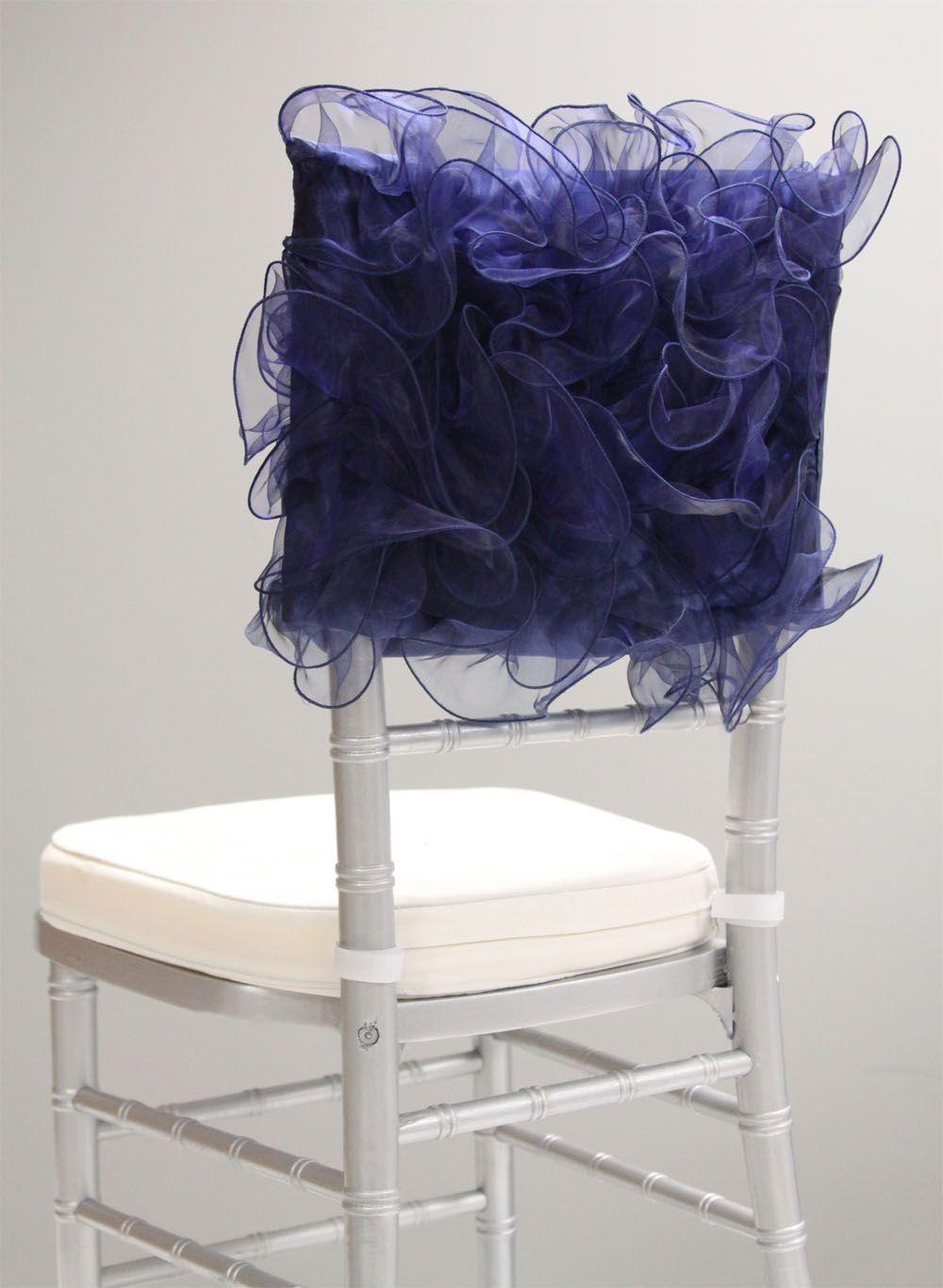 Swirl Chiavari Chair Cap Navy Blue Www Cvlinens Com Wedding