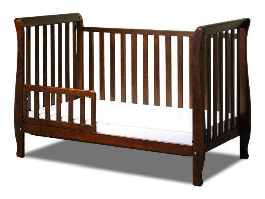 Amazon.com : Athena Naomi 4 in 1 Crib with Toddler Rail, Espresso ...
