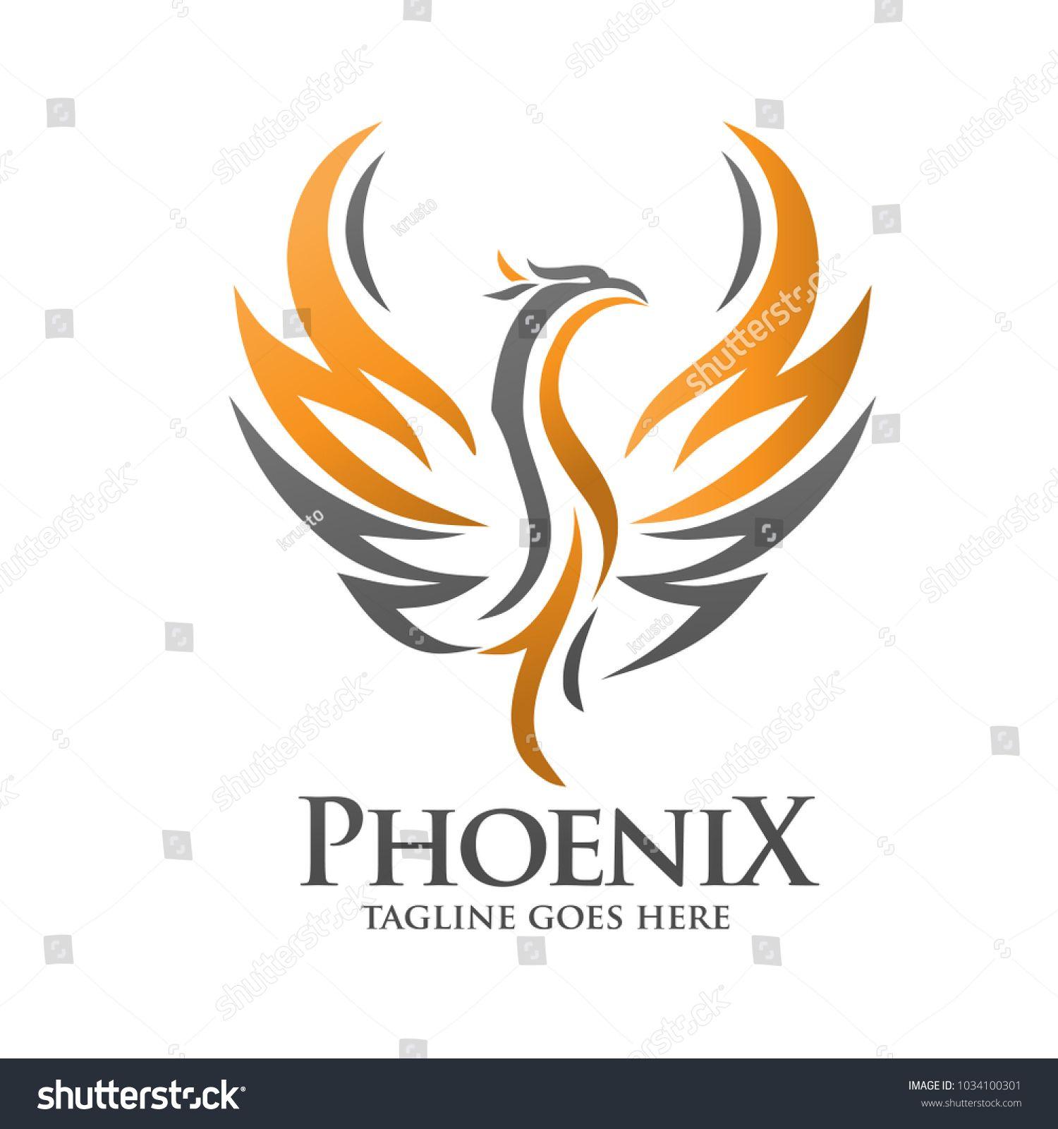 Phoenix Logo Template Fire Bird Vector Phoenix Vector Logo Concept Bird Logos