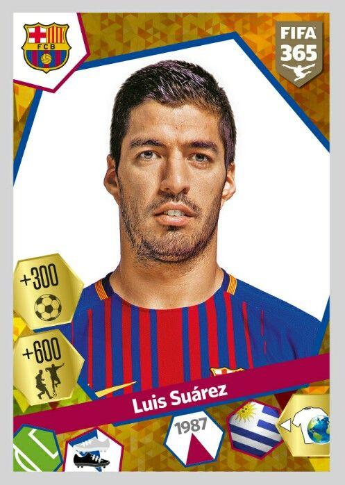 92098c289c Luis Suárez - Barcelona FC - Panini 365  Gold Sticker 2017-2018