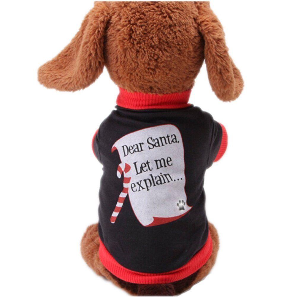 Youarekingandreg Christmas Sweetie Dog Coat Xmas Dog Clothes Dog Jumpsuit Soft Cozy Pet Clothes Pet Sweater Don T Get Left Pet Sweater Dog Coats Dog Clothes