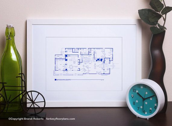 Brady Bunch House Floor Plan TV Show Floor Plan BluePrint for Residence of Carol and Mike Brady 1st Floor As Seen on AOL News