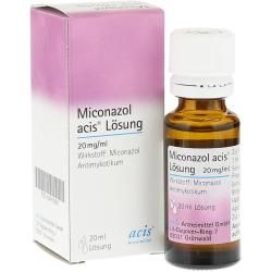 Photo of Miconazole acis solution 20 milliliters of acis drug