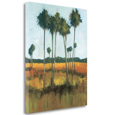 Tangletown Fine Art 'Tall Palms II' by Mark Pulliam Painting Print on Wrapped Canvas