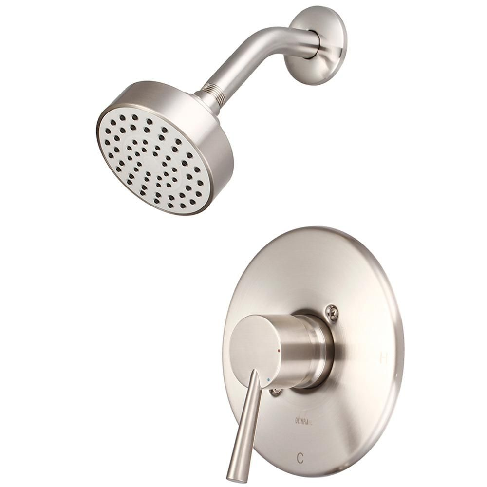 Olympia Faucets I2 1 Handle Wall Mount Shower Trim Kit In Brushed