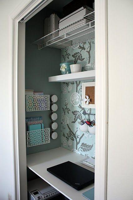 Pretty office in a closet
