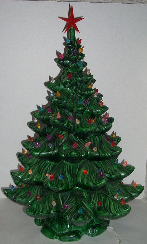 Vintage Ceramic Lighted Christmas Tree 24 inch | Projects to Try ...